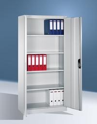 Büro- und Aktenschrank, Breite 930 mm Tiefe 400 mm Höhe 1950 mm, in 3 Farben