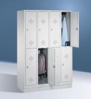 Doppelstöckige Garderobenschränke mit Sockel Breite 1220 mm