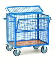 Kastenwagen mit Deckel, Draht 500 kg Tragkraft