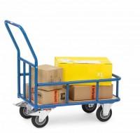 Magazinwagen mit Stahlrohr-Umrandung 400 kg Tragkraft