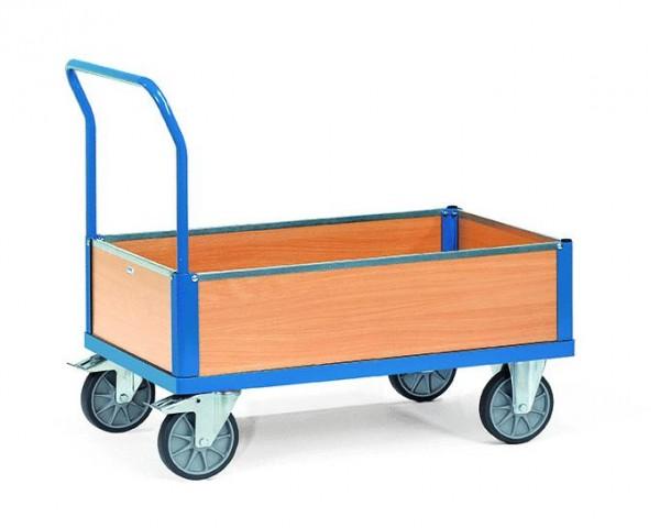 Kastenwagen mit Schiebebügel, 500 kg Tragkraft, 850x500 mm