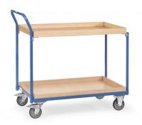 Leichter Tisch- und Werkstattwagen mit Abrollkante 300 kg Tragkraft