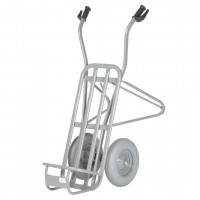 Stein- und Ziegelkarre, zweiräderig, pannensichere Bereifung   Tragkraft 250 kg