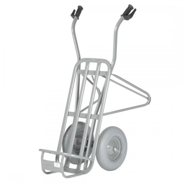 Stein- und Ziegelkarre, zweiräderig, pannensichere Bereifung, Tragkraft 250 kg, 60 Ziegel