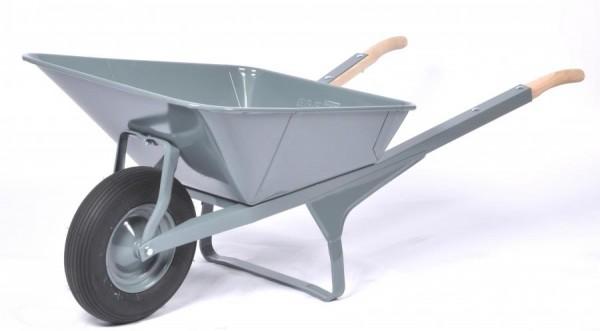 Schubkarre K1, Stahlblechmulde, rechteckig, Tragkraft 250 kg, 200 Liter Inhalt