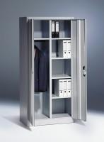 Flügeltürschrank mit Garderobefach und Etagenböden