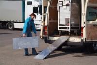Verladeschienen - faltbar, Tragkraft 400 kg/Paar, Breite 400 mm, Länge 2500 mm