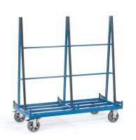 Glasscheiben- und Plattenwagen, zweiseitig, Länge 1676 mm, 1200 kg Tragkraft