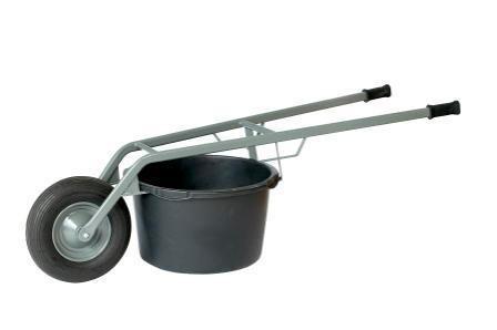 Kübel- und Mörtelkarre, Luftreifen, für Kübel 65 und 95 Liter, 250 kg Tragkraft
