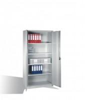 Universal-Stahl-Flügeltürenschrank für Lager, Werkstatt oder Büro.