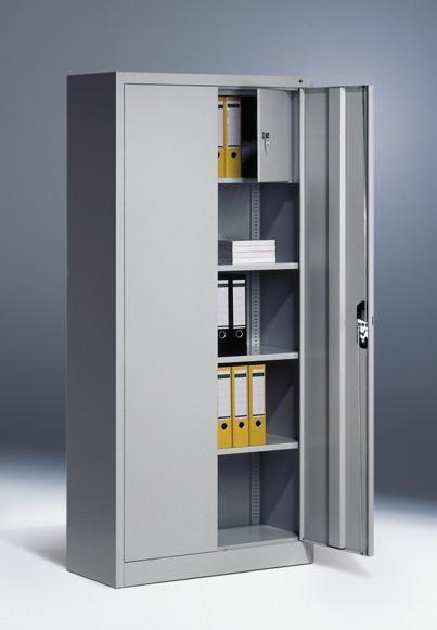 Flügeltürschränke mit Schließfach, Breite 930 mm, Tiefe 500 mm, Höhe 1950 mm, in 3 Farben