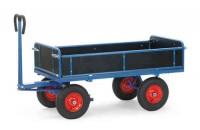 Handpritschenwagen mit Bordwänden, 700 kg Tragkraft