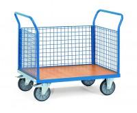 Plattformwagen mit Gitterwänden 500 kg Tragkraft  - Euro-Format-