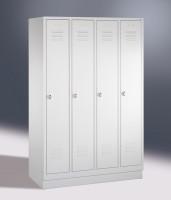 Garderoben- Stahlspinde mit Sockel Breite 1220 mm