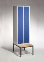 Garderoben- Stahlspinde mit Sitzbank Breite 610 mm
